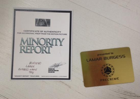 Minority Report Plaque